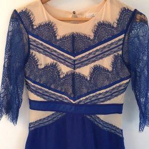 Chicwish Blue/Nude Dress